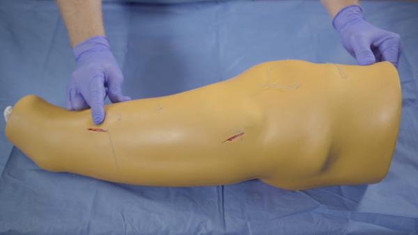 Naht-Bein - Chirurgischer Naht-Trainer - Trainingsmodell für Drainage